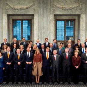 The King and Queen of the Netherlands Meet with Members of the European Commission.