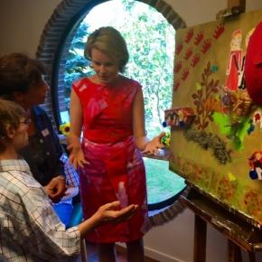 Her Majesty Queen Mathilde of Belgium Visits HorizonsNeufs.