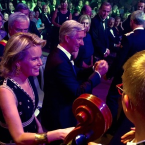 TMs King Philippe and Queen Mathilde of Belgium Attend a Gala Concert.