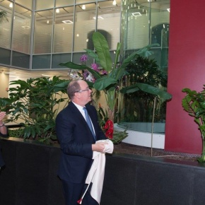 (VIDEO) His Serene Highness Prince Albert II of Monaco Unveils a New Plaque.