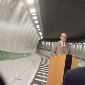 (VIDEO) HSH Prince Albert II of Monaco Inaugurates a New Tunnel.