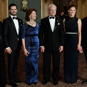 (VIDEO) TMs King Carl XVI Gustaf and Queen Silvia of Sweden Host a Gala Dinner.